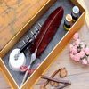 European Style Retro Coffee Quill Dip Pen Harry Potter Feather Pen Set