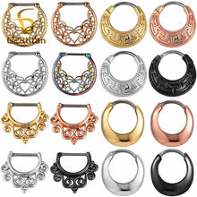G23titan Nose Piercing Rings 16G Titanium Pole Nose Ring Clip Beautiful Septum Clips Ear Daith Nose Earrings Nariz Body Jewelry