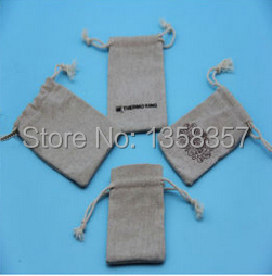 100pcs/lot wholesale jute/linen/flax drawstring gift bags for toiletry/stationery packaging,Size be customized,Various colors