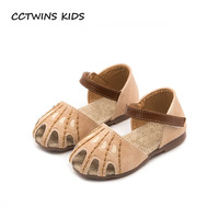 CCTWINS KIDS 2018 Summer Baby Girl Fashion Hollow Sandal Pu Leather Toddler Brand Princess Sandal Children