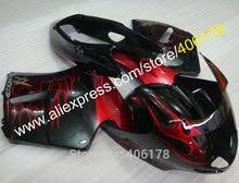 Hot Sales,For Honda CBR 1100XX Blackbird CBR1100XX 1996-2007 CBR1100 XX Red Flame Black Motorcycle Fairing (Injection molding)