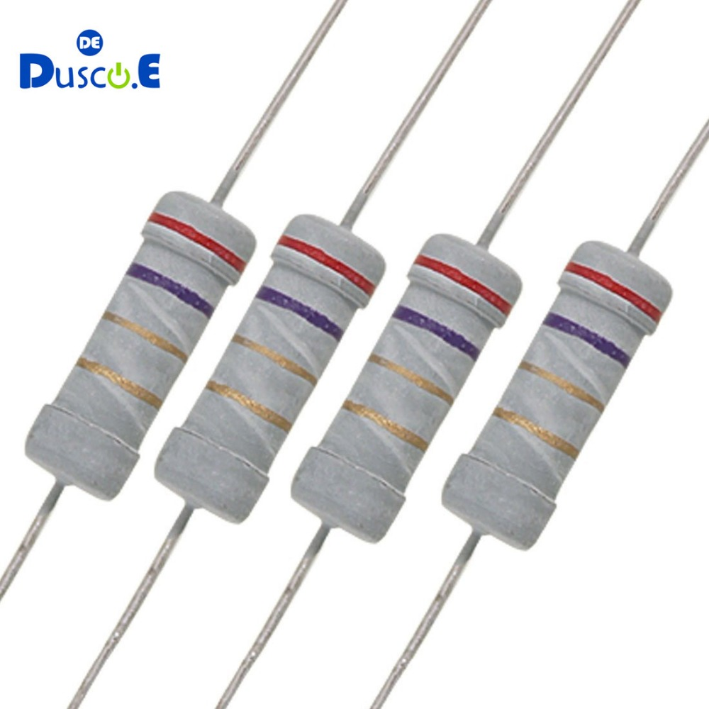 5 X 4K7 Ohm Flame Retardant Carbon Film Resistors 1//4 Watt 5/% Shipping From US