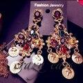 Fashion Show Большой Бренд D G Ретро Стиле Барокко Королева серьги старинные падение мотаться серьги для женщин новые ювелирные изделия