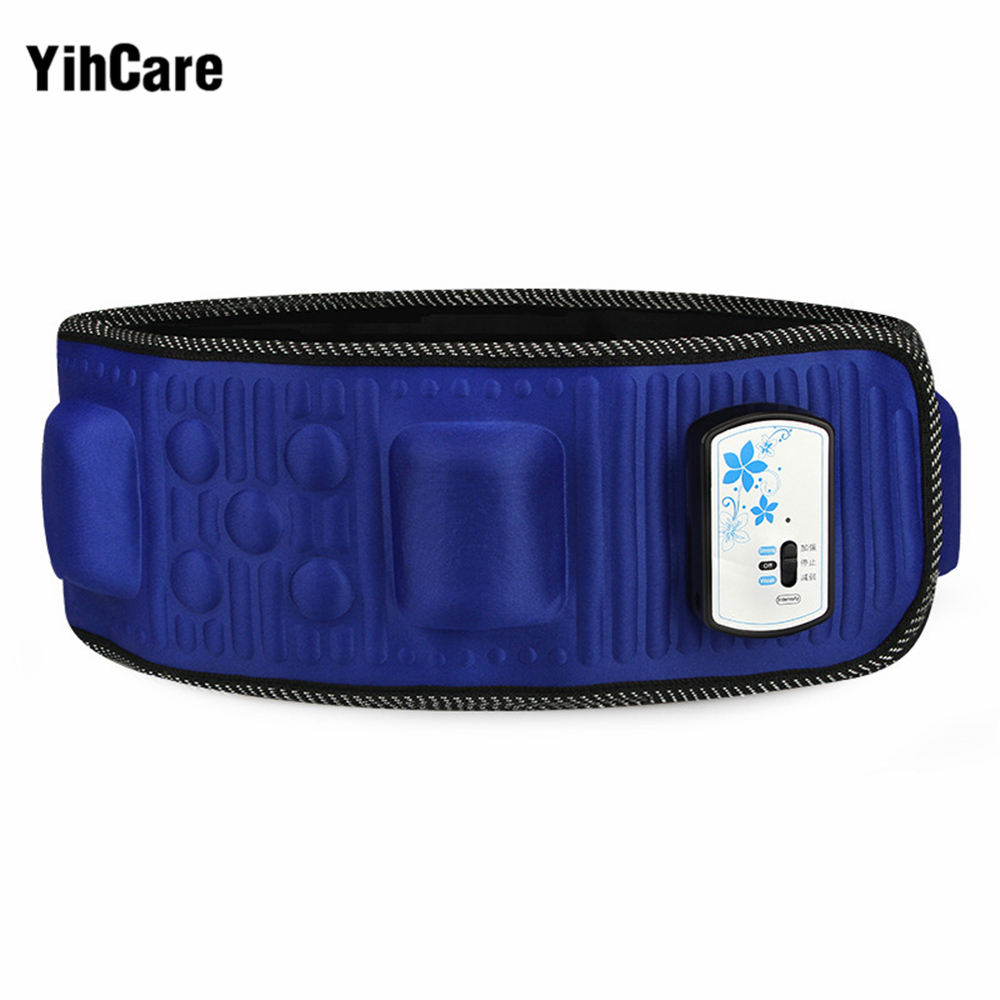 YihCare X5 Times Electric Fat Burner Machine Vibration Body Slimming Massage Belt Lose Weight Waist Shape Slim Belt Effective elastic thin slimming belt magic waist abdomen massage belt black