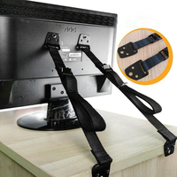 2 Pack Baby Safety Anti Tip Straps For Flat Screen TVs And Furniture TV Wall Strap