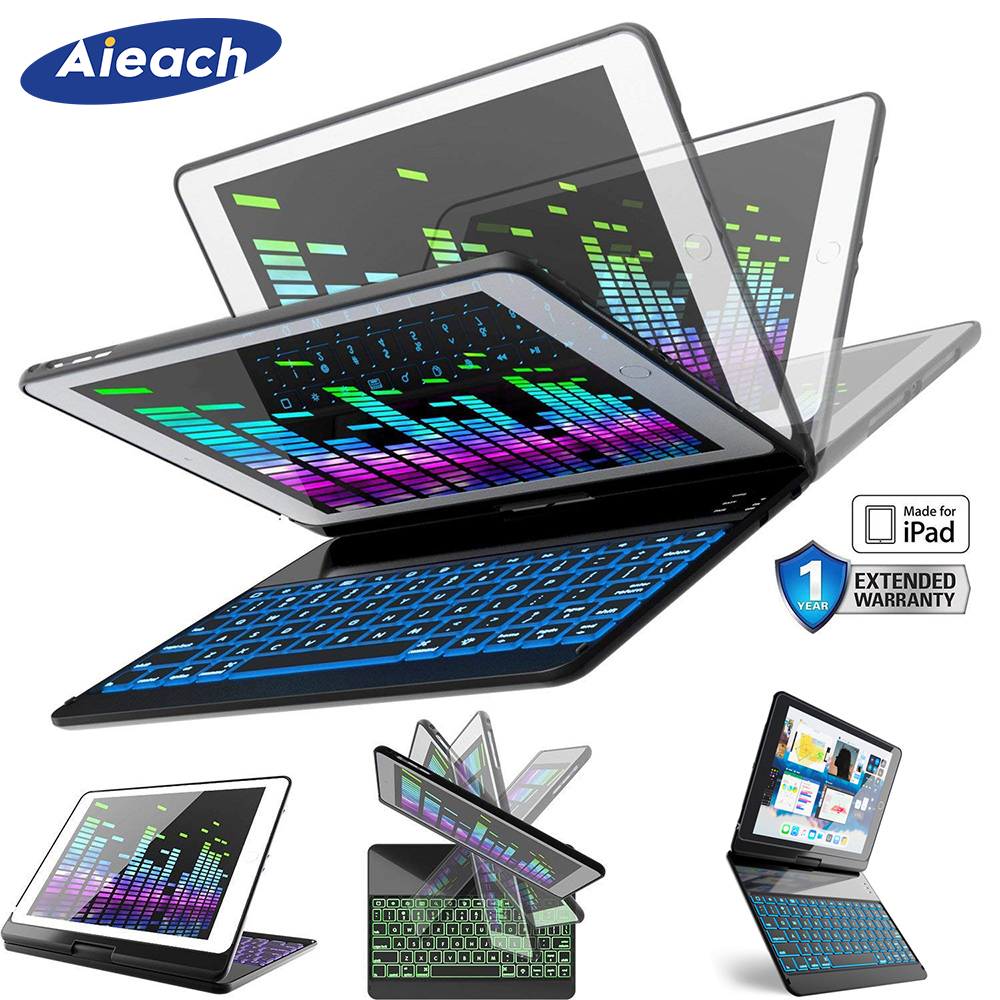 Smart 7 Colors Backli Case For Apple iPad Pro 9 7 inch With Wireless Bluetooth Keyboard