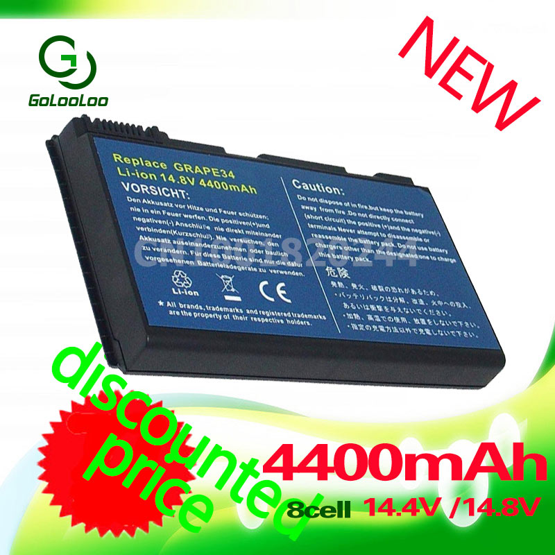 Golooloo 4400MaH Laptop Battery for ACER Extensa 5210 5220 5230 5630 5420G 5610 5620 7220 7620 5620Z 5420 5610G <font><b>5630G</b></font> 7620G image