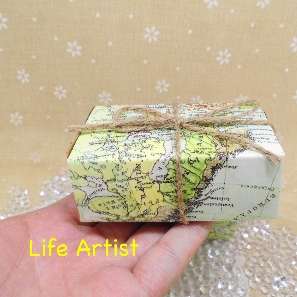 24pcs Map Favor Boxes Around The World Favor Boxes Travel Theme