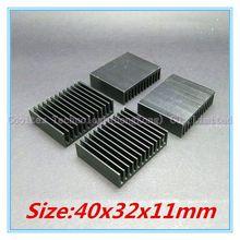 (10pcs/lot)  40x32x11mm Aluminum heatsink radiator for chip LED computer 's component  heat dissipation