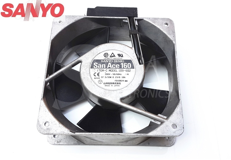 все цены на Sanyo 109-602 16050 160mm 16cm 37.5/33W 200V inverter server axial cooling fans онлайн