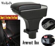 Для Mercedes-Benz Smart Fortwo Forfour подлокотник коробка центральный магазин содержимое коробки с подстаканником пепельница с интерфейсом USB
