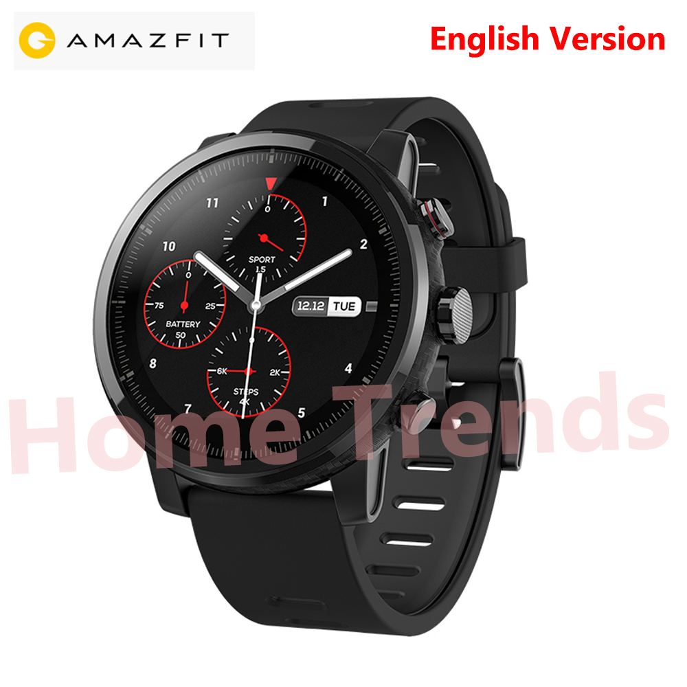 Original Xiaomi Huami Amazfit 2 SmartWatch 2 English Version GPS PPG Heart Rate 5ATM Waterproof Sports Smart watch Bluetooth
