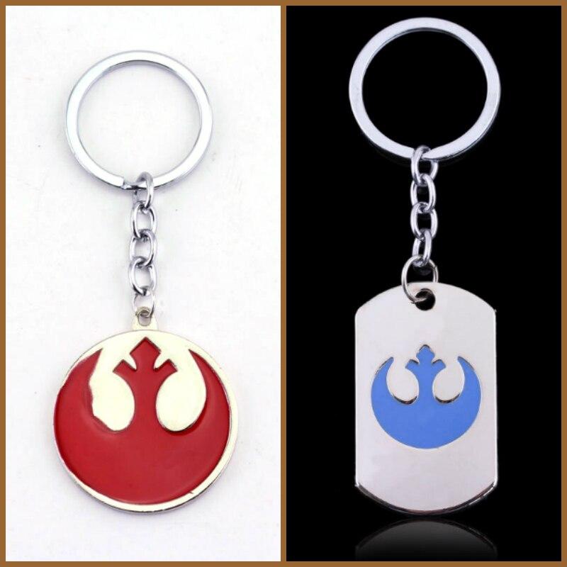 Keychains Star Wars Rebel Logo Glass Pendant Silver Vintage Keyring Party Gift