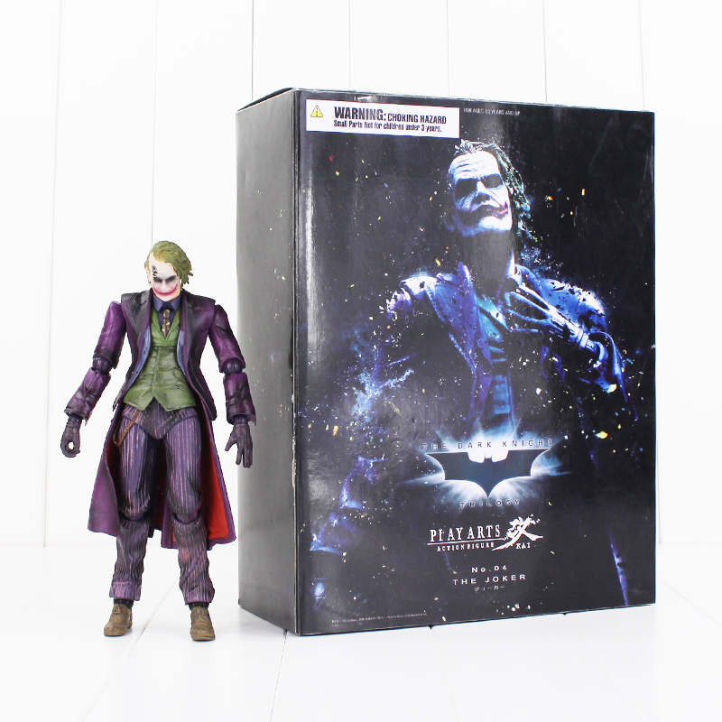 Play Arts KAI Batman The Dark Knight The Joker Action Figure Collectible Model