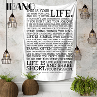 LIFE IS SHORT 150X200 CM Ultra clear Pixels 4 Holes Banners Flags Poster Hanging Cloth Tapestry Background Decor