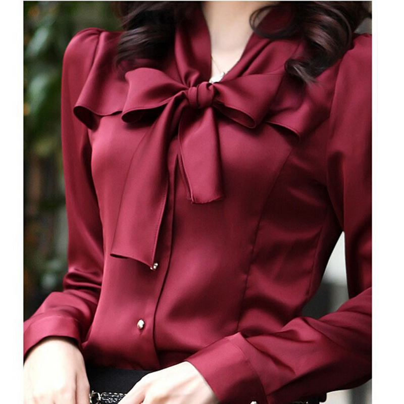 S-XXXL 2020 New Fashion Women Long Sleeve Chiffon Blouse Shirt Lace V-neck Collar Lantern Sleeve Women Blouse Tops