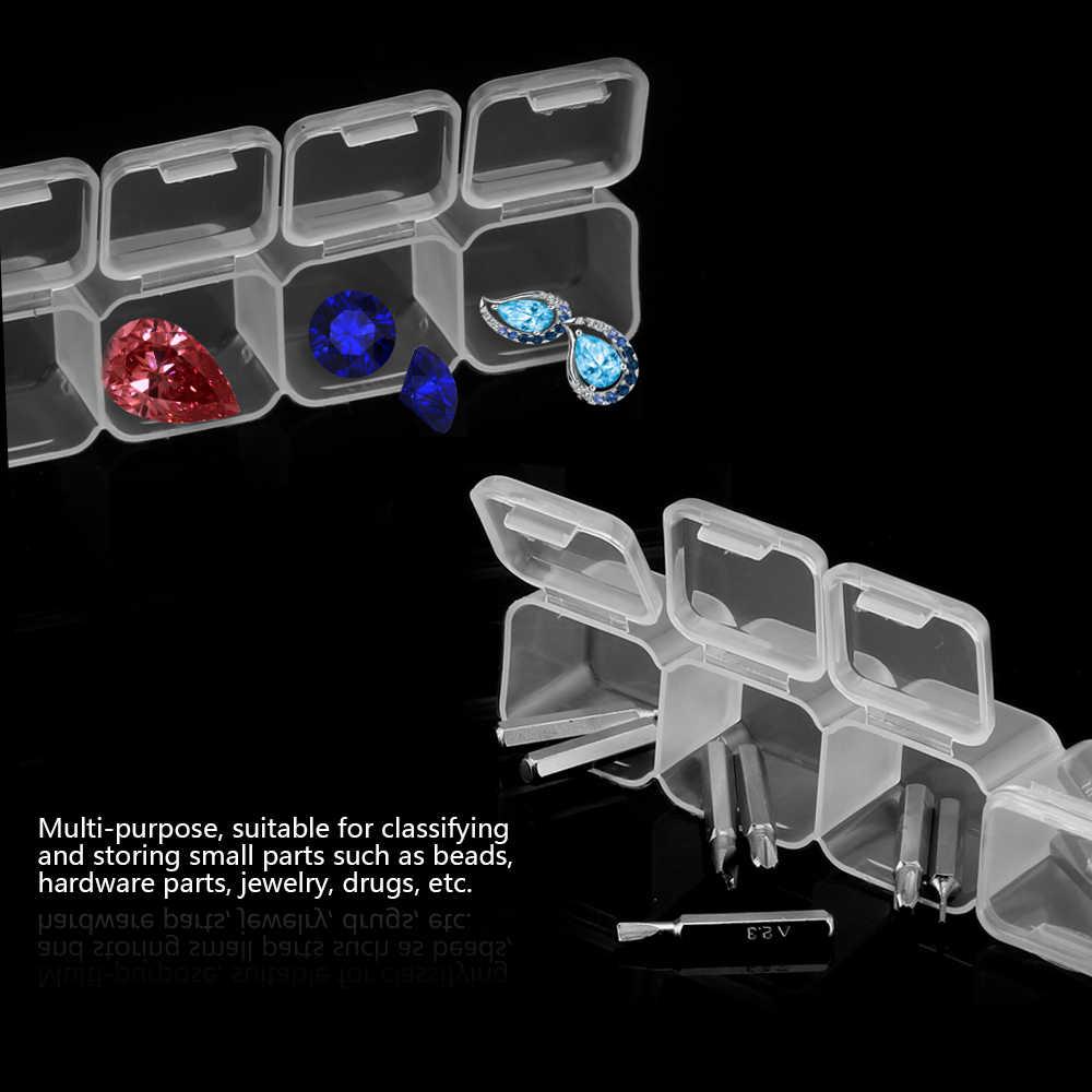 56 شبكات 5D DIY بها بنفسك الماس اللوحة الحفر صندوق مجوهرات صندوق حجر الراين التطريز كريستال الخرزة المنظم حقيبة للتخزين الحاويات