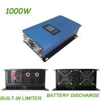 1000W MPPT Solar Power Grid Tie Inverter build in Limiter,Battery discharge DC 22 65V/45 90V , AC110V/220v auto selected ,