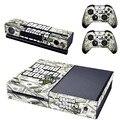 Grand Theft Auto V GTA 5 Наклейка Стикера Кожи для Microsoft Xbox One Kinect и Консоли и 2 Контроллера Винил Игры Наклейки