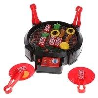 Nieuwe Kid Fantasiespel Barbecue Playset Simulatie Keuken Elektrische BBQ Speelgoed met Licht Squishies Groothandel Voedsel Kit Kat Squishy