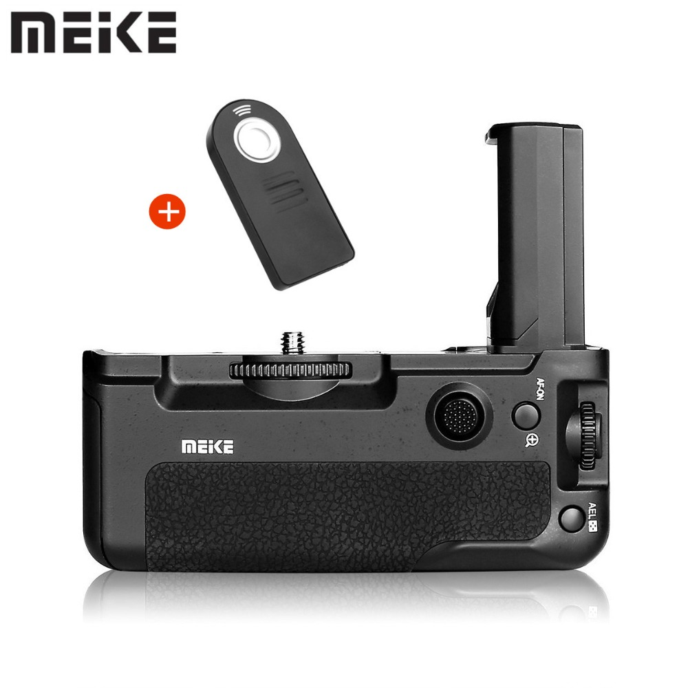 Meike MK-A9 Battery Grip Control Shooting Vertical-shooting Function For Sony A9 A7III A73 A7M3 A7RIII A7R3 Camera+ES IR Remote