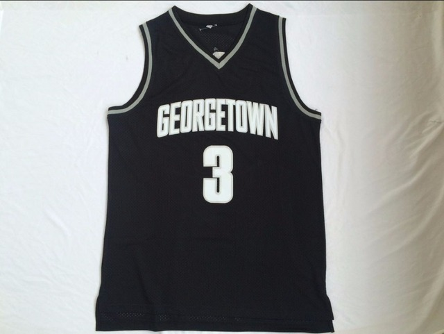 40beb2556 3 Allen Iverson College Georgetown University Basketball Jersey-in ...
