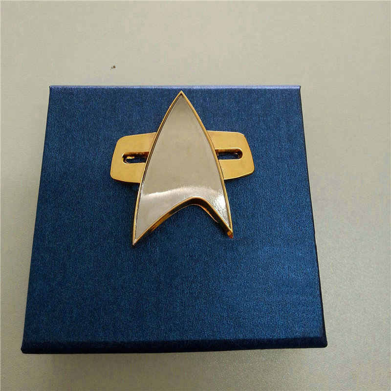 Badge Bintang REK Pin Cosplay Voyager Communicator Lencana Pin Bros