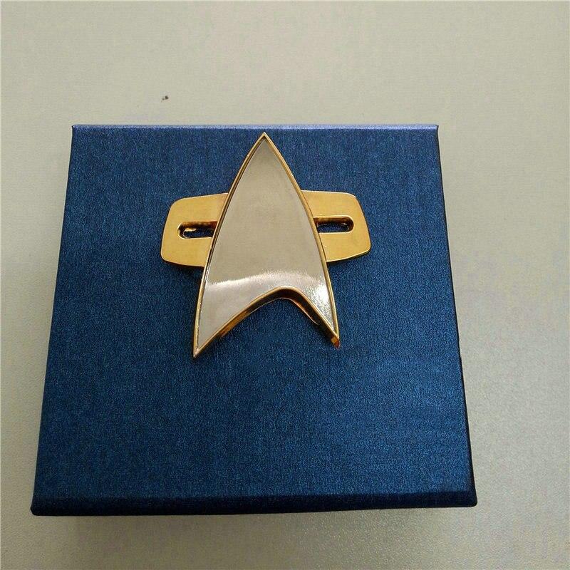 Star Badge  Rek Pin Cosplay Voyager Communicator Badge Pin Brooch
