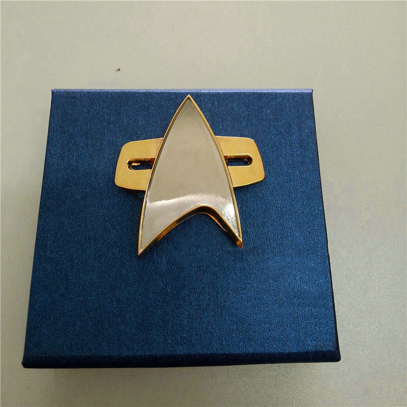 Star Trek Badge Pin Cosplay Voyager Communicator Badge Pin Brooch