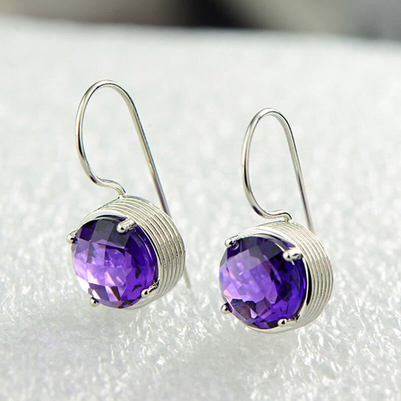 Drop-Earrings Sterling-Silver Natural-Gemstone Jewelry 925 Women Multi for Best-Gifts