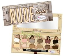 6*New Nude Eyeshadow 12 colors/Set Nude Makeup Tools Palette with a brush Free Shipping#e12-01