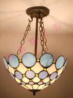 30CM Anti Tiffany blue minimalist chandelier Korean study bedroom balcony decorated lamps wholesale Mediterranean hanglampen