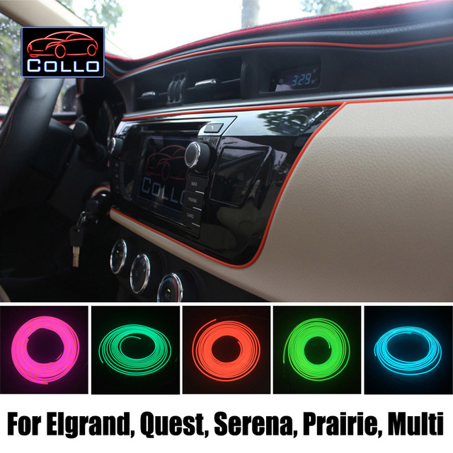 9 М EL Провода Для Nissan Elgrand/Quest/Сирена/Прерии/Multi/Прерии Liberty/Украшение Автомобиля Холодный Свет Атмосфера лампы