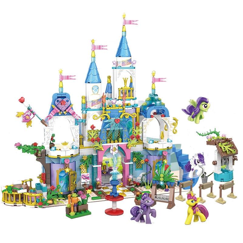 862pcs Children s building blocks toy Compatible city friends girls Pony s Friendship Crystal Castle birthday