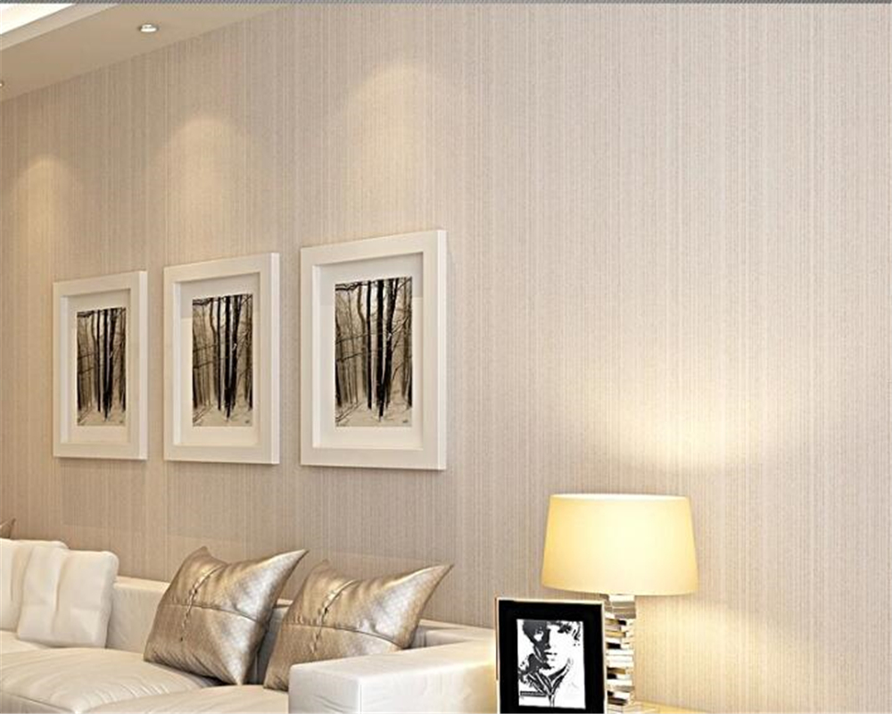 Beibehang haute qualité plaine salon étude fibre non-tissé papier peint flocage à fines rayures TV toile de fond papel de parede behang
