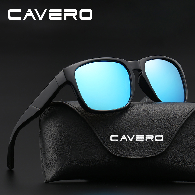 Cavero Brand Classic Polarized Sunglasses Men Driving Square Zwart - Kledingaccessoires - Foto 1