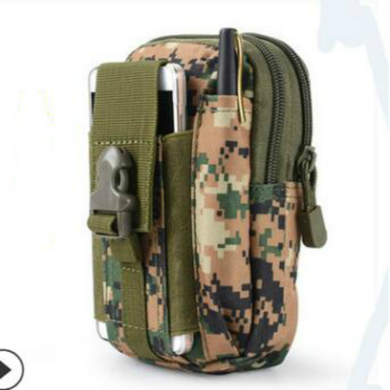 Outdoor Military Tactical Camo Belt Pouch Bag Pack Phone Bags Molle Pouch Belt Camp Pocket Waist Fanny Bag