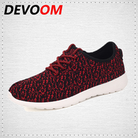 DEVOOM New Shoes Woman Breathable Mesh Women BigSize Walking Flats Super Light Fashion Casual Summer Yeezy