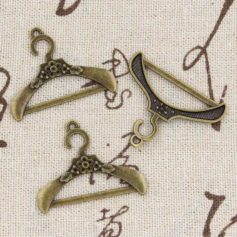 Clothes-Stand-Hanger Charms Pendant-Fit Handmade Jewelry Tibetan Bronze Antique-Making title=