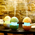 lovely USB Egg humidifier with Colorful Night Light Office Mist Maker egg touch LED Light