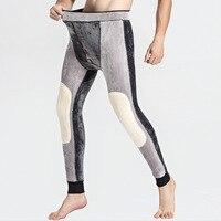 Below Zero 30 Degrees Super Keep Warm Men's Merino Wool Leggings Winter Thermal Underwear Skinny Fleece Tights Mens Johns Pants