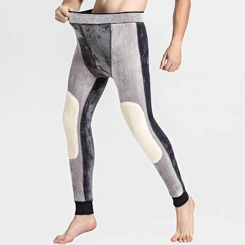 24fda42988ad7 Below Zero 30 Degrees Super Keep Warm Men's Merino Wool Leggings Winter  Thermal Underwear Skinny Fleece