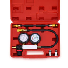 TU - 21 Engine Cylinder Leakage Tester Dual Pressure Gauge Car Diagnostic Tool Kit