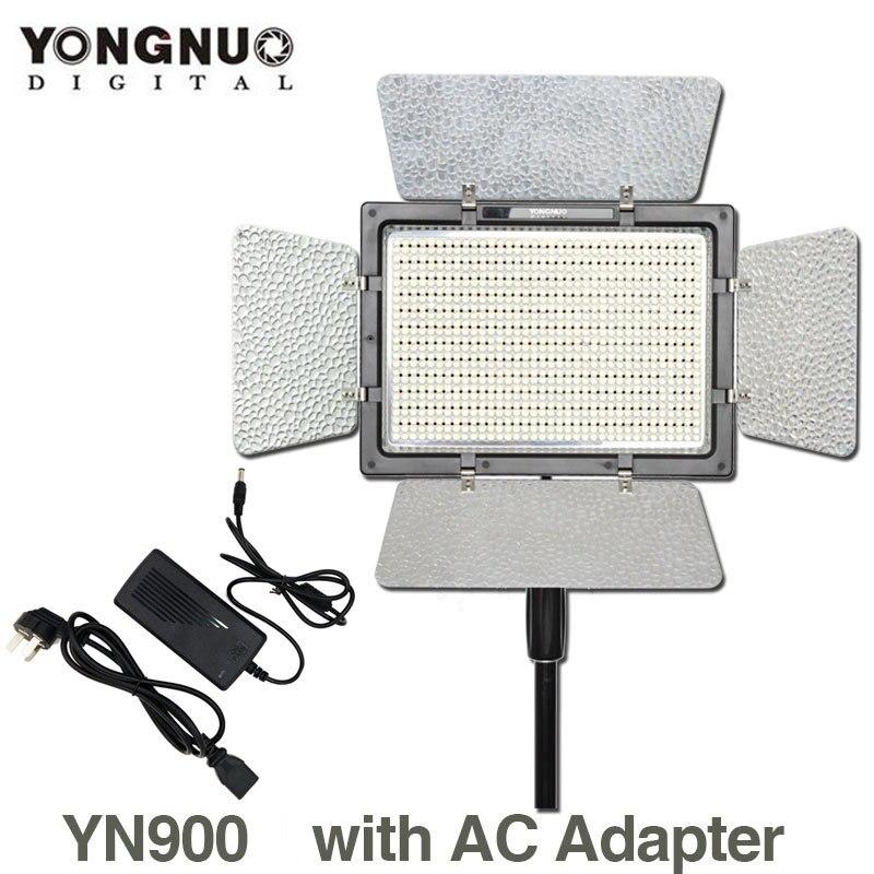 YONGNUO YN900 YN-900 3200 k-5500 K CRI95 Câmera Fotográfica LED Luz de Vídeo com Adaptador de Energia AC Alta Feijão iluminação Do Painel para nikon