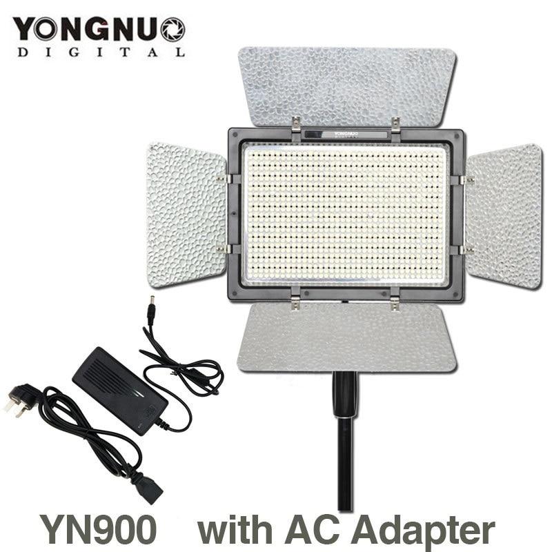YONGNUO YN900 con Adattatore di Alimentazione CA, YN-900 di Alta CRI 95 3200 k-5500 k HA CONDOTTO I Fagioli Video Studio Luce di Pannello