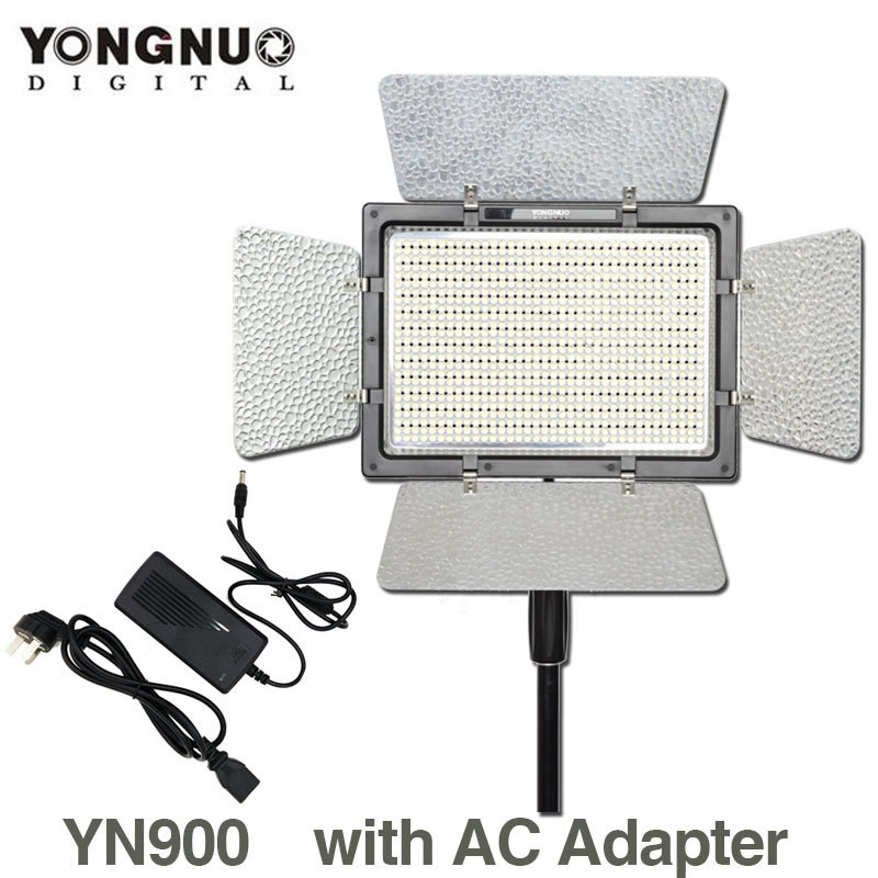 YONGNUO YN900 mit AC Power Adapter, YN-900 Hohe CRI 95 3200 karat-5500 karat LED Bohnen Video Studio Licht Panel