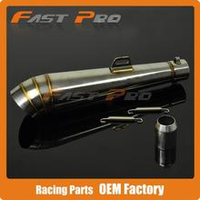 Universal Motorcycle GP Stainelss steel Exhaust Muffler Slip on With Moveable DB Killer Dirt Bike Street Bike Scooter ATV Racing