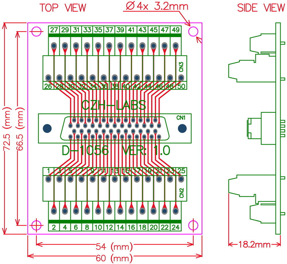 Scsi Connector Wiring Diagram Trusted Schematics Rj45 Plug 25 Pin Serial Cable Pinout 50 Half Pitch 0 05 D Sub Female Breakout Board Dsub