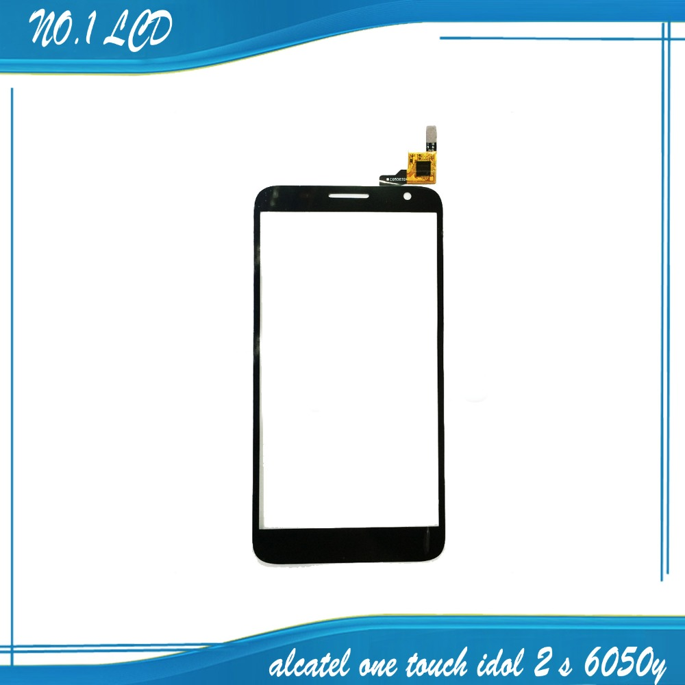 Free Shipping Touch screen Digitizer replacement For Alcatel One Touch Idol 2 <font><b>S</b></font> 2S <font><b>OT</b></font> 6050 6050Y cell phone
