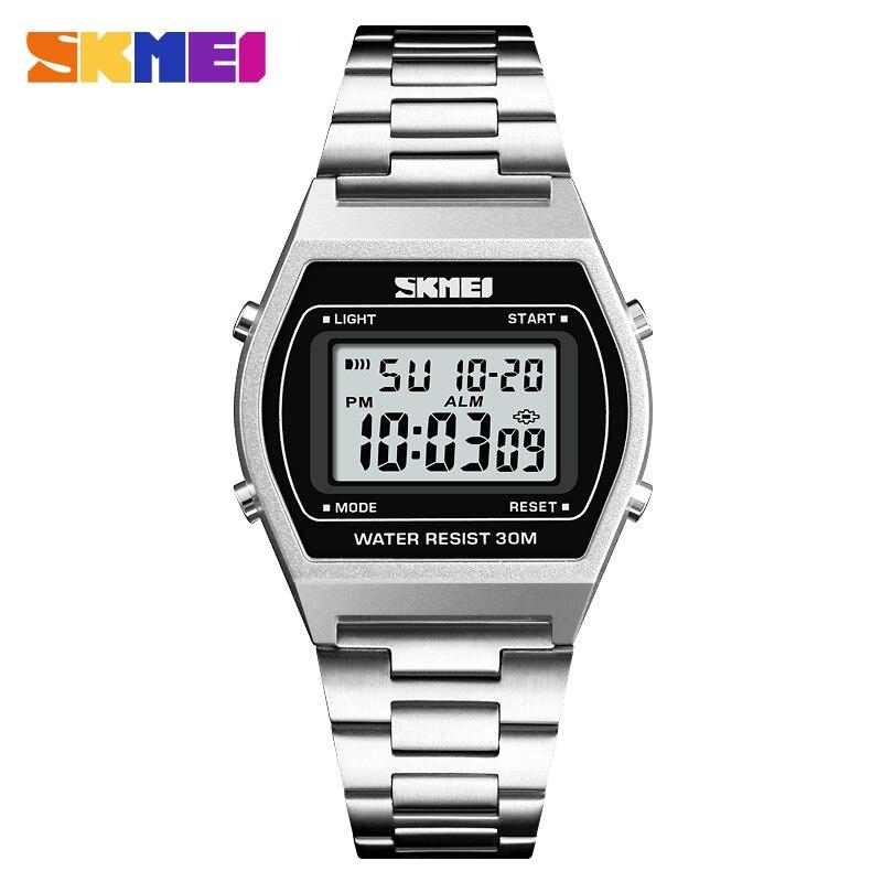 Skmei Esportes Digitais dos homens Relógios Homens De Luxo Da Marca LED relógio de Pulso Eletrônico 30m À Prova D' Água Relógio de 12/24 Horas Relogio masculino